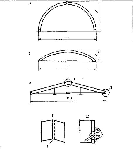 Арка безраспорная деревянная конструкция