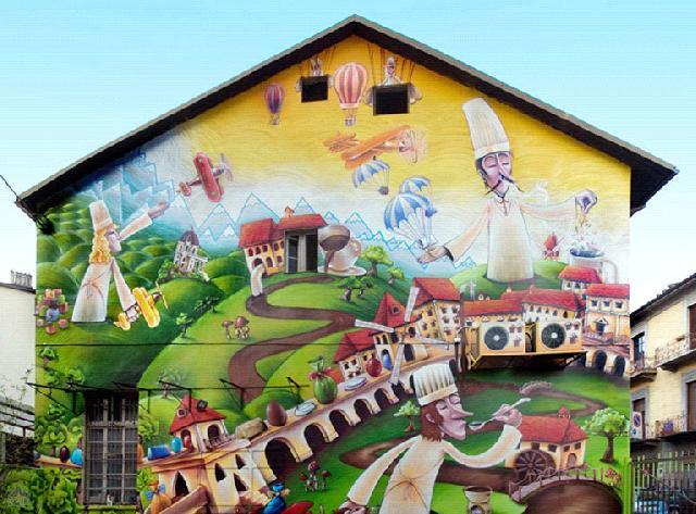Граффити на стене цветы