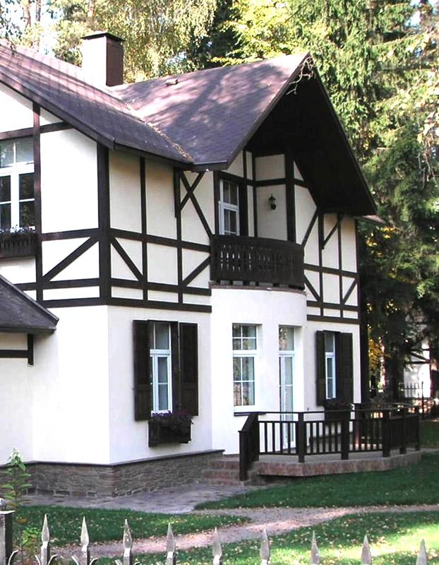Дома в стиле фахверк фото